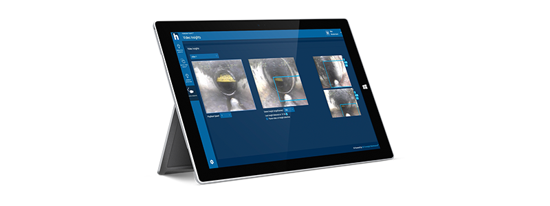 A tablet running Max Detect AI.