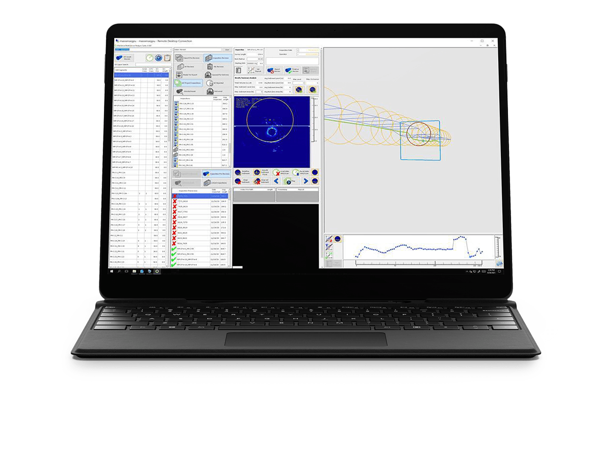 The MaxSense software running on a laptop.