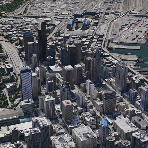An arial view of Seattle, Washington